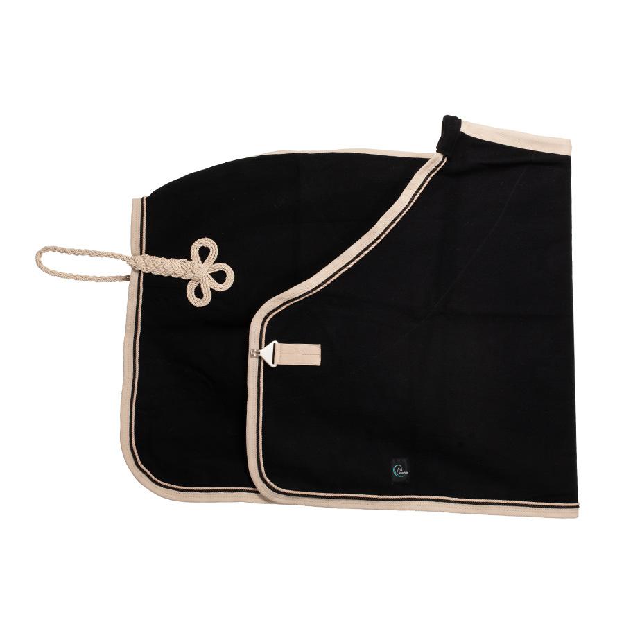 Greenfield Selection Couverture laine - noir/beige - noir/beige