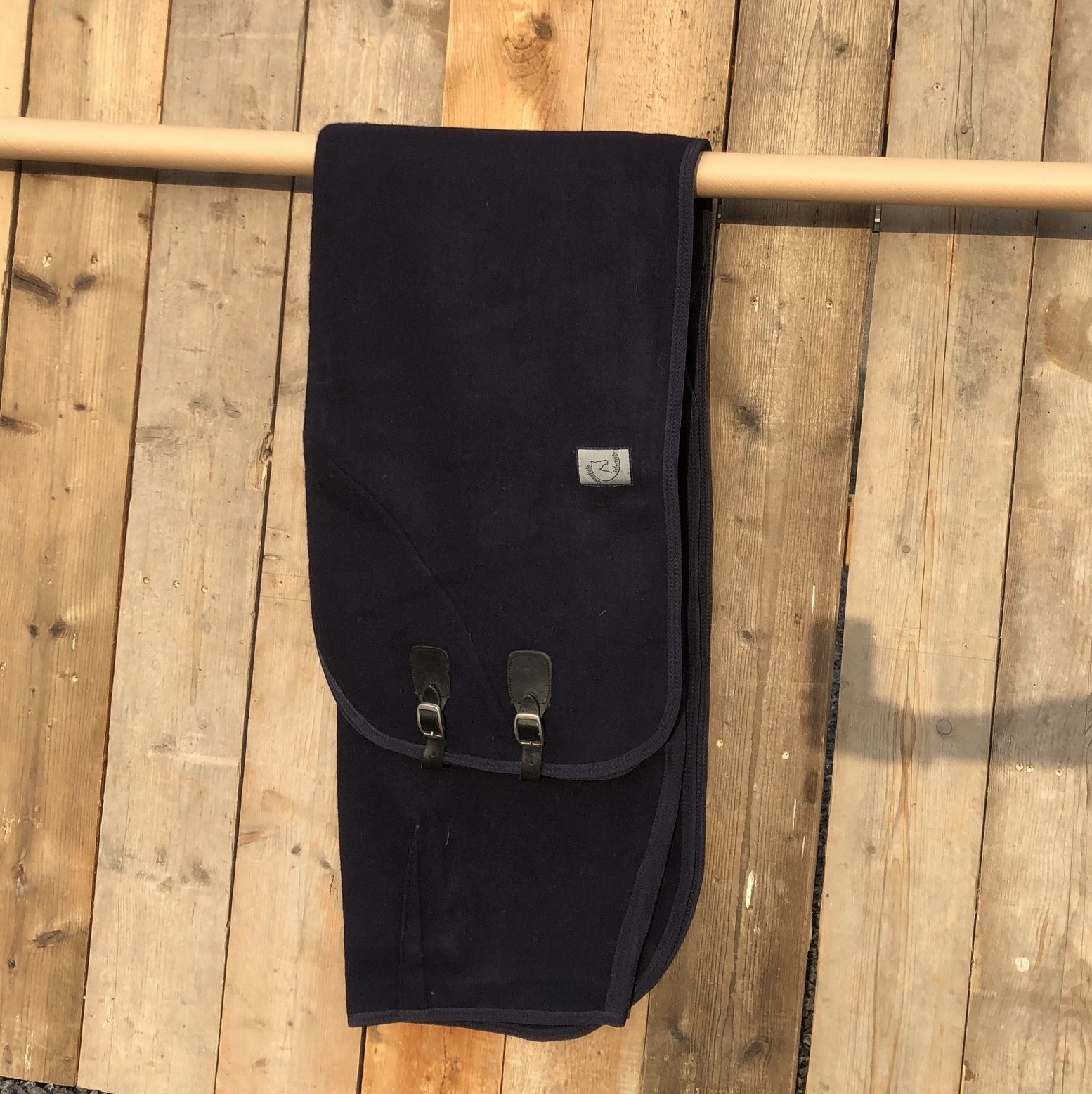 Greenfield Selection SOLDEN !! Wollen deken blauw 155cm