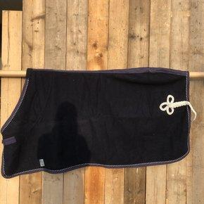 SOLDEN !! Wollen deken blauw/blauw-mix 145cm