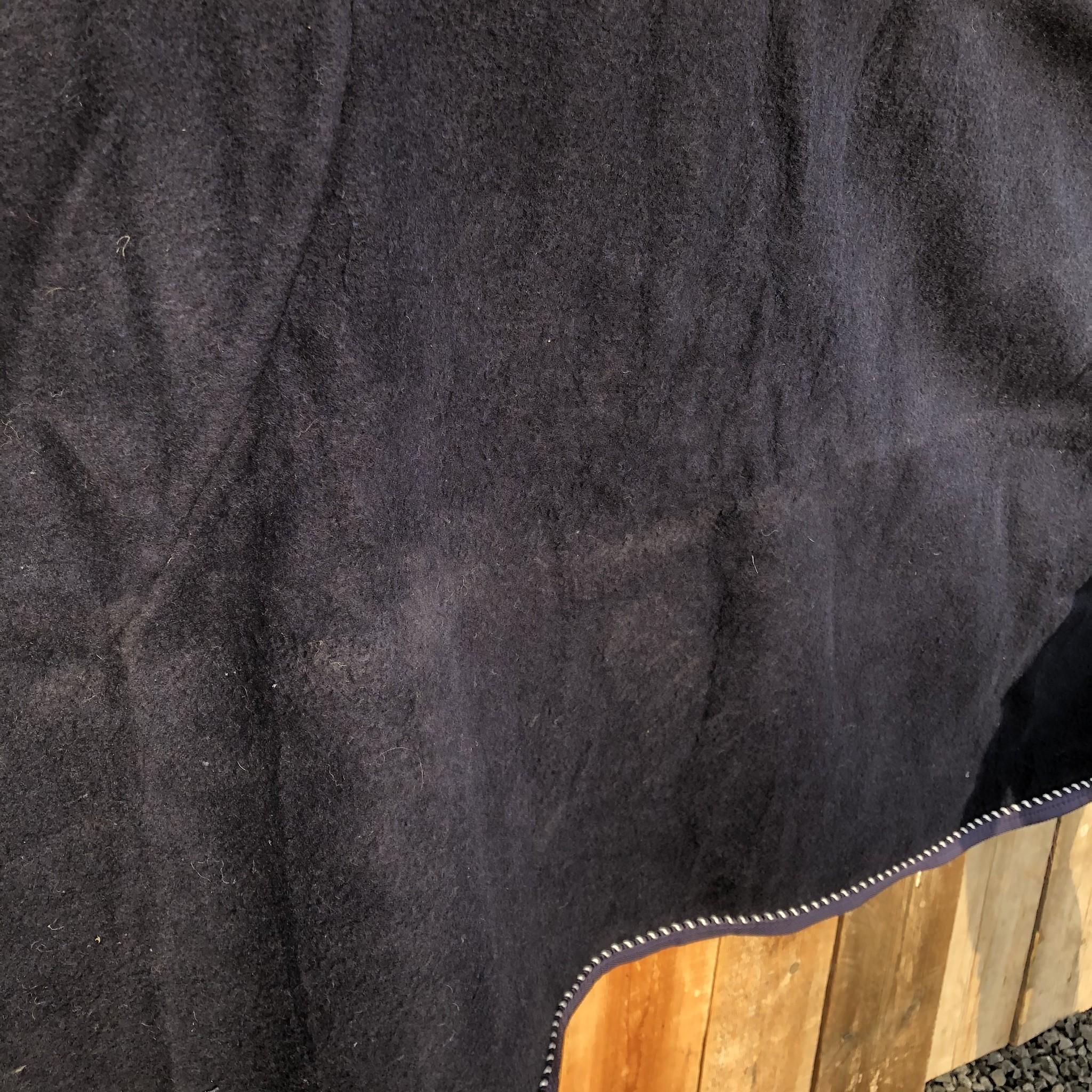 Greenfield Selection SOLDEN !! Wollen deken blauw/blauw-mix 145cm