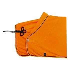 Fleece deken - oranje/oranje-zwart