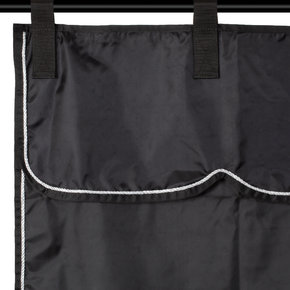 Stable curtain black/black - silver