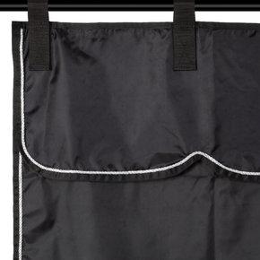 Stalgordijn zwart/zwart - zilver