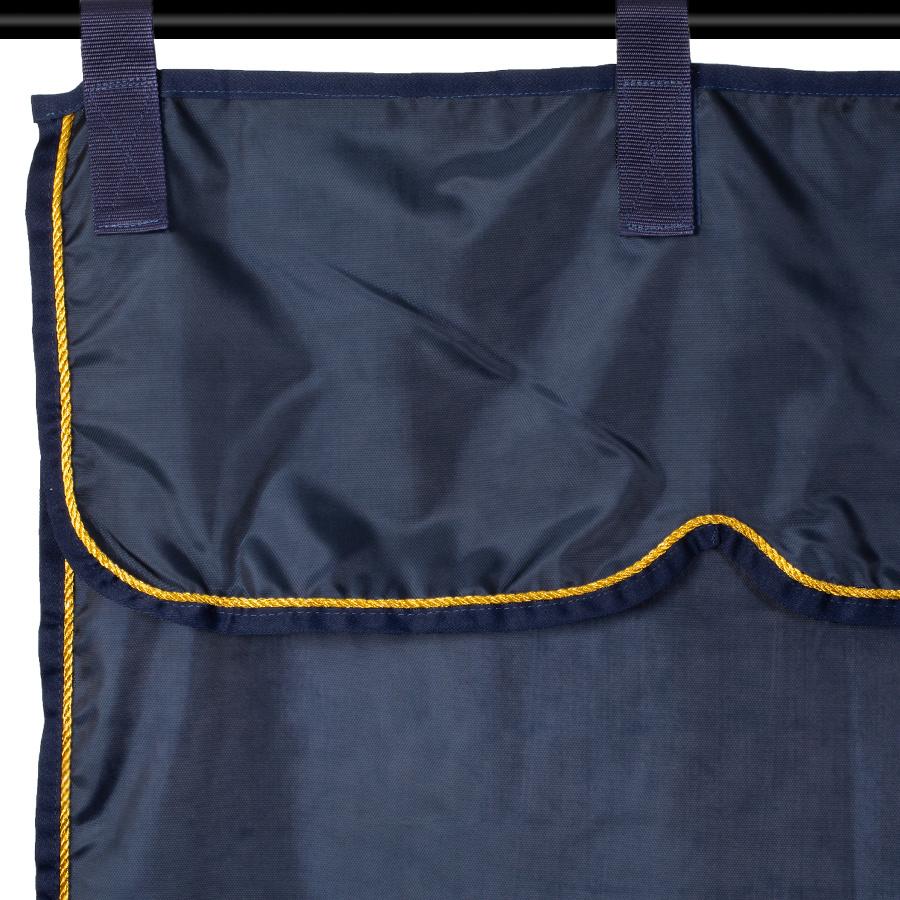 Greenfield Selection Stalgordijn blauw/blauw - goud