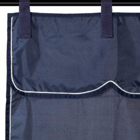 Tenture bleu marine/bleu marine - argent