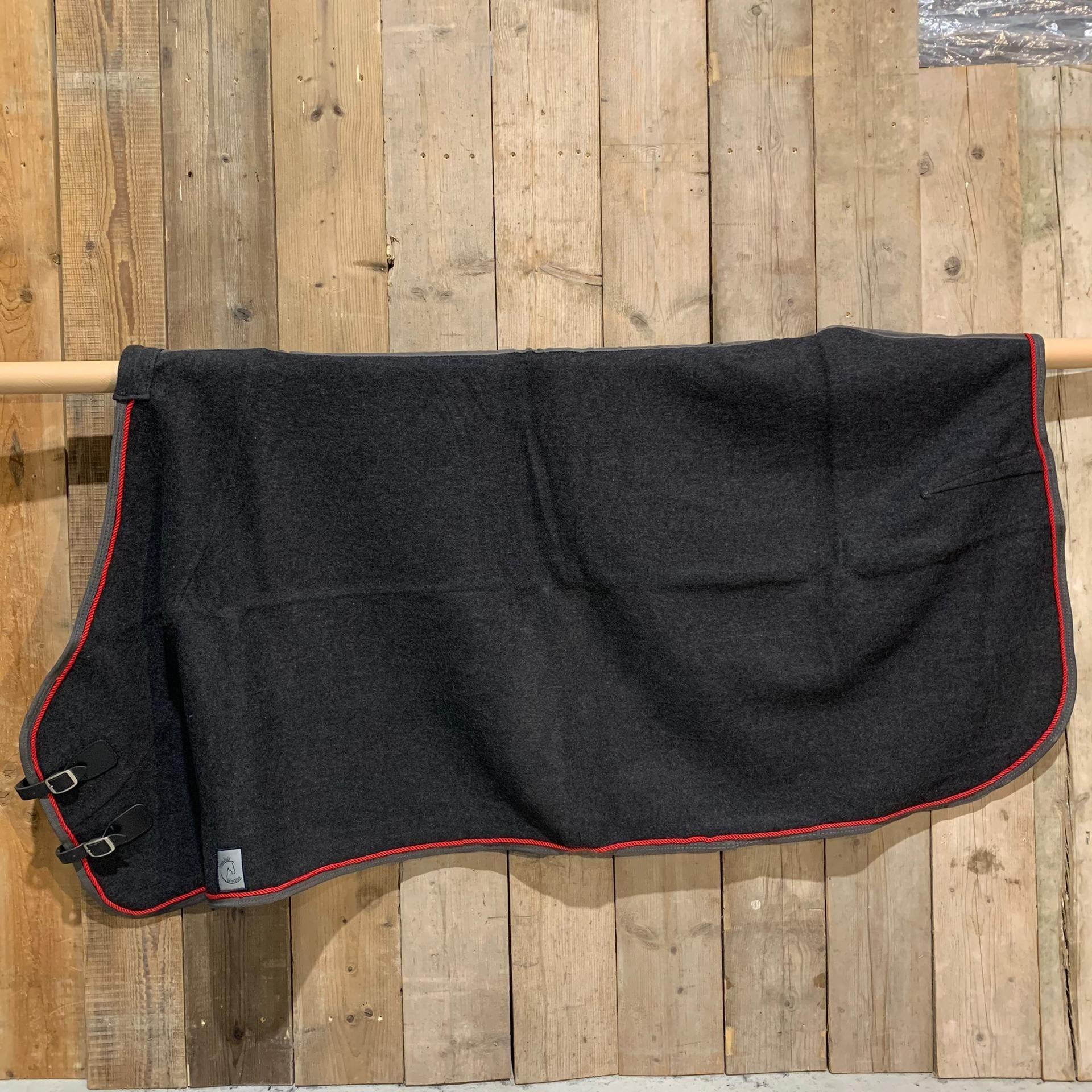 Greenfield Selection SOLDEN !! Wollen deken grijs/grijs-rood 165cm