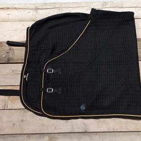 Thermo-deken - zwart/zwart-goud