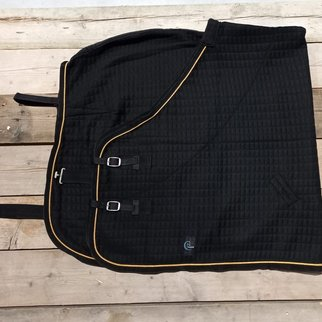 Greenfield Selection Thermo rug - black/black-gold