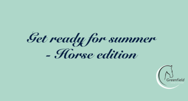 Get ready for summer - Horse edition