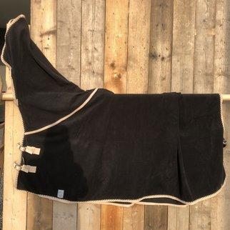 Greenfield Selection SOLDEN !! Wollen deken zwart/beige-mix 155cm
