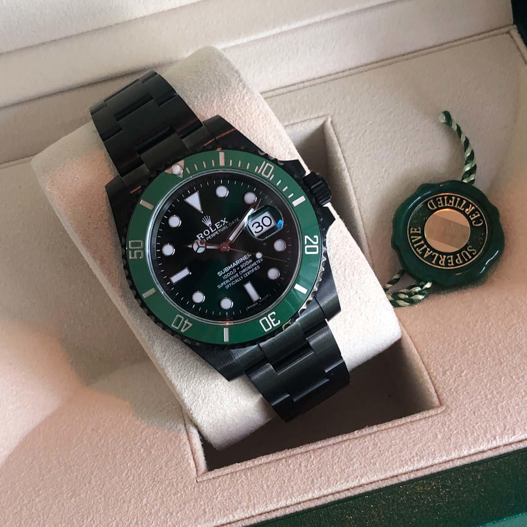 Custom Made Green Hulk Rolex Submariner