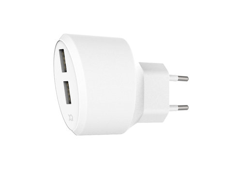 Travel Charger 3.4A Dual USB EU White