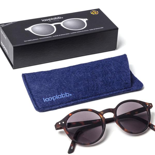 LoopLabb Leesbrillen Good Looks, Great Readers Looplabb Leesbril model Faust Rond LL02 zwart