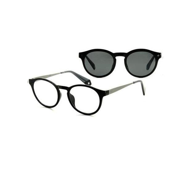 Polaroid Polaroid PLD6081 08A M9 Clip Leesbril in Black Grey