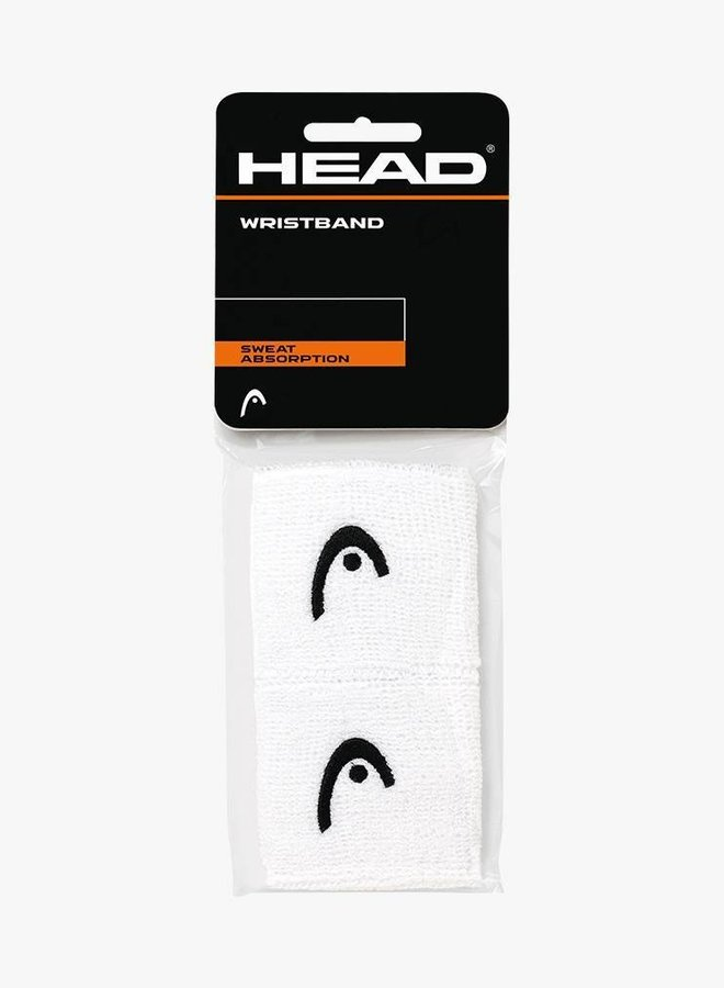 "Head Wristband 2,5"" - 2 Pack - White"