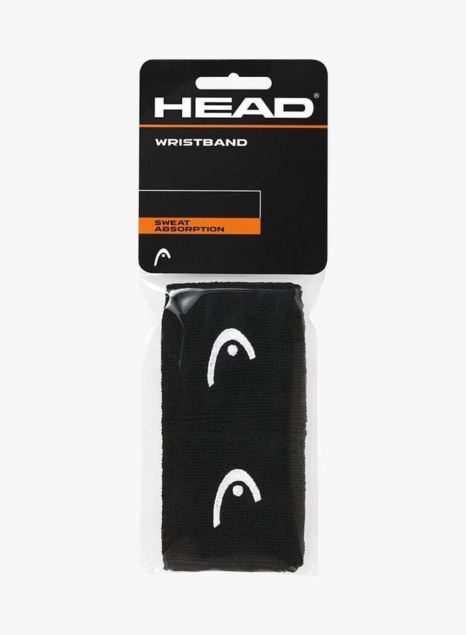 """Head Wristband 2,5"""" - 2 Pack - Black"""
