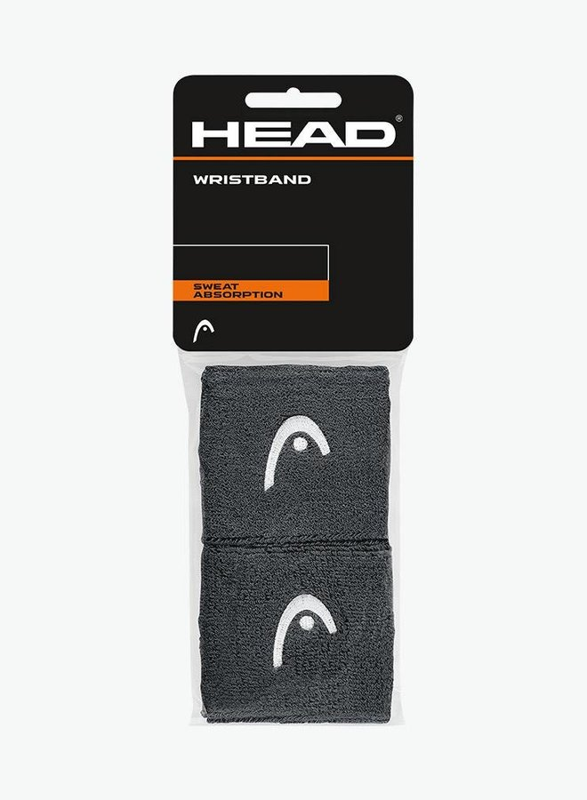 "Head Wristband 2,5"" - 2 Pack - Anthracite"