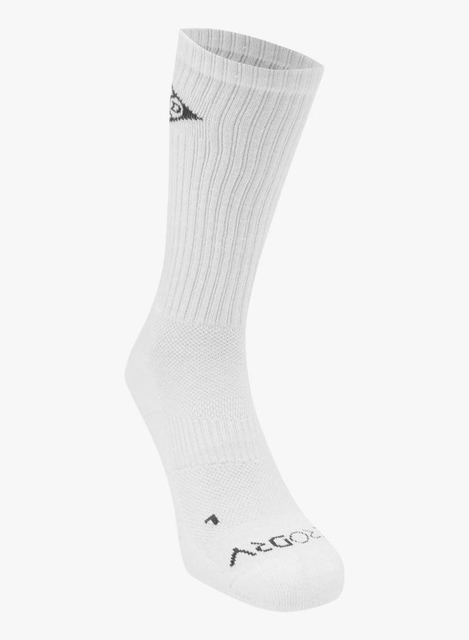 Dunlop Performance Socks - 2 Pack - White