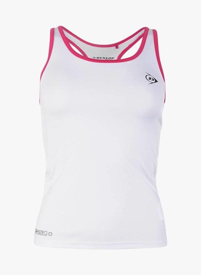 Dunlop Tank Top Ladies - White - Pink