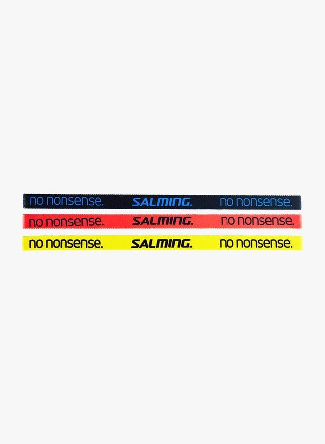 Salming Hairband - 3 Pack - Black / Coral / Yellow