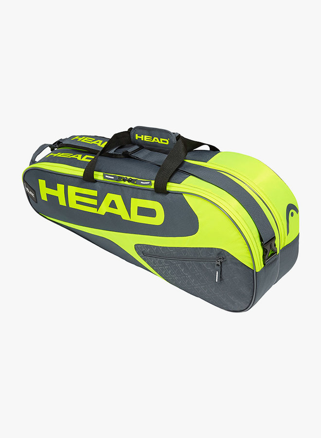 Head Elite 6R Combi  - Grey / Neon Yellow