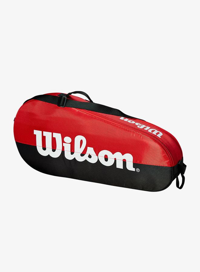 Wilson Team 1 Comp 3 Racket Bag - Red / Black