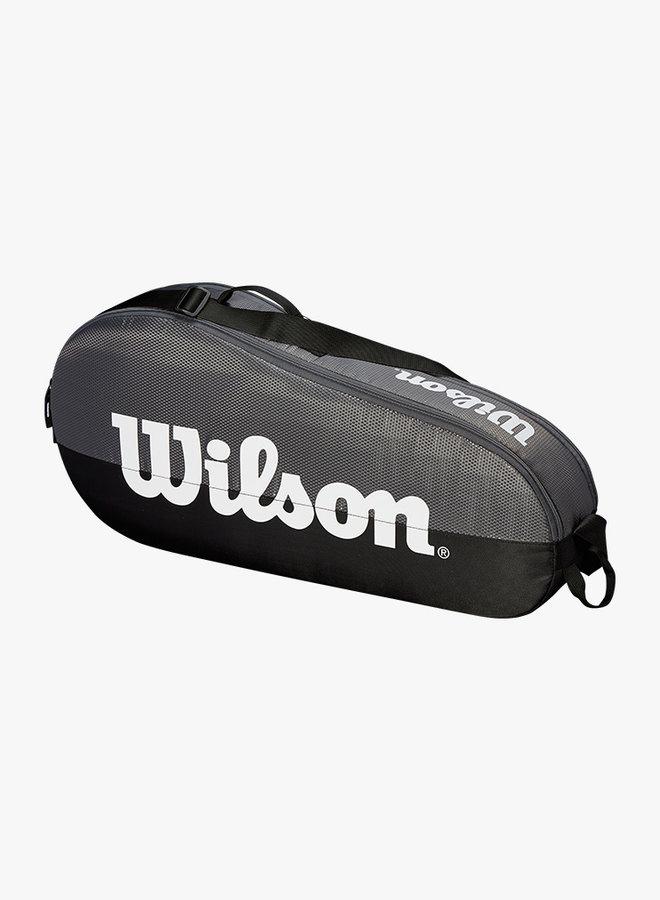 Wilson Team 1 Comp 3 Racket Bag - Grey / Black