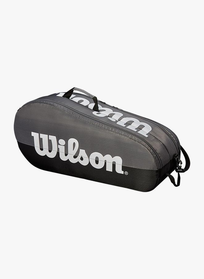 Wilson Team 2 Comp 6 Racket Bag - Grey / Black