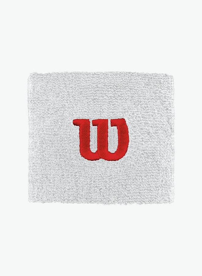 Wilson 'W' Wristband - 2 Pack - White
