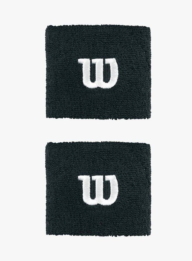Wilson 'W' Wristband - 2 Pack - Black