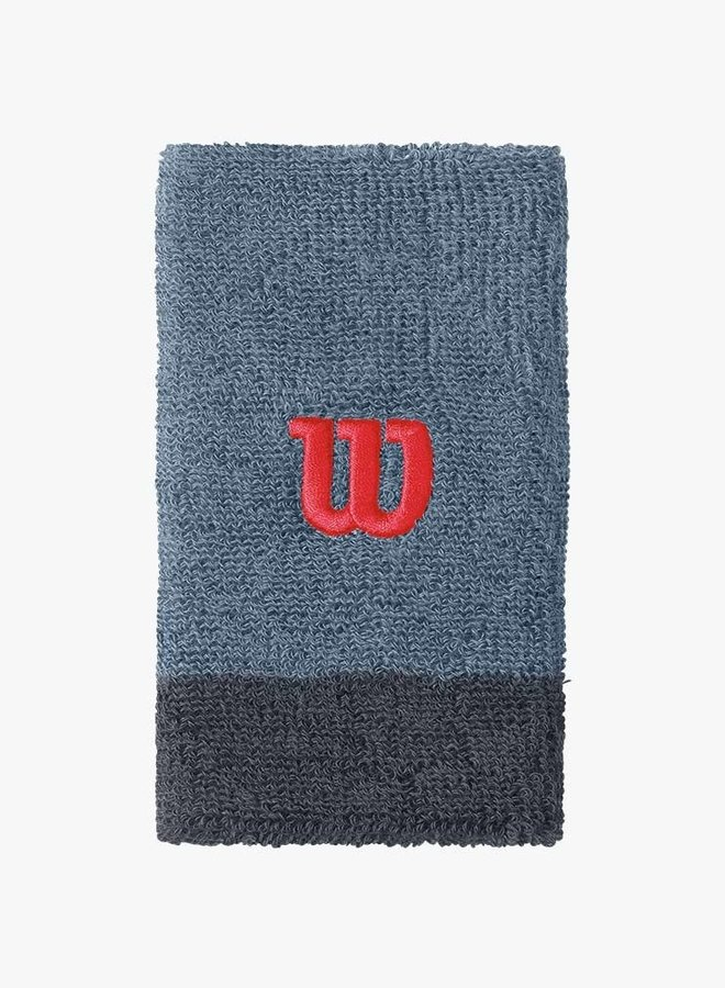 Wilson Extra Wide 'W' Wristband - 2 Pack