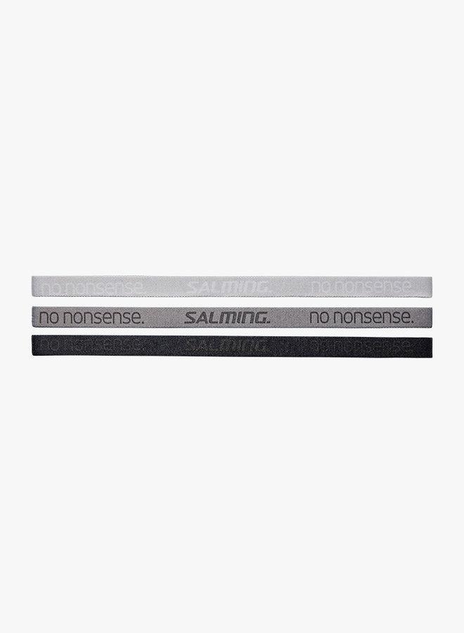 Salming Hairband  - 3 Pack - Grey / Black