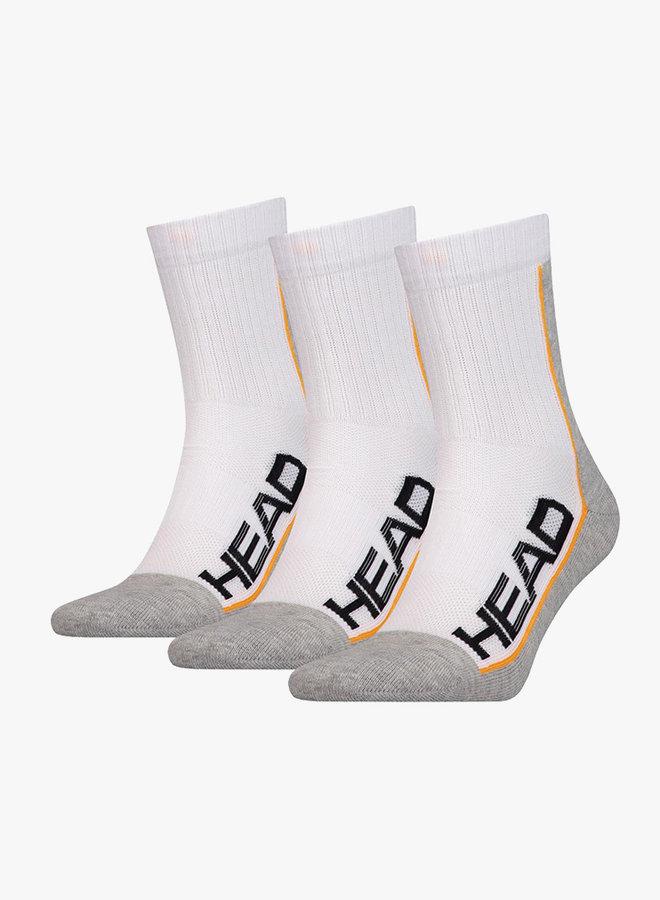 Head Performance Short Socks - 3 Pack - White