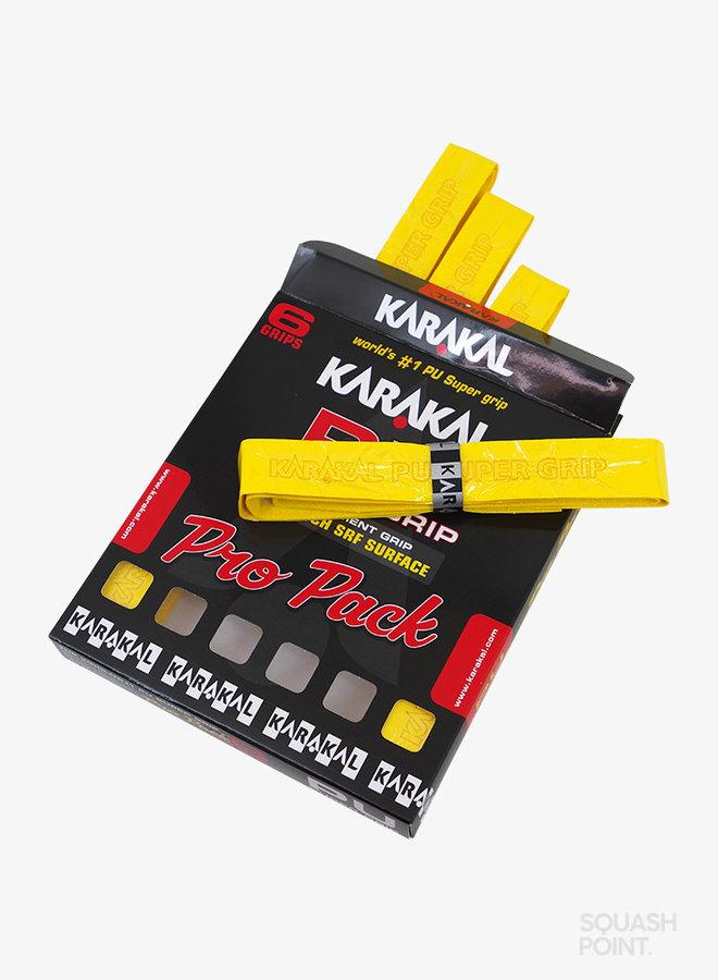 Karakal PU Super Grip Yellow Pro Pack - 6 Pack