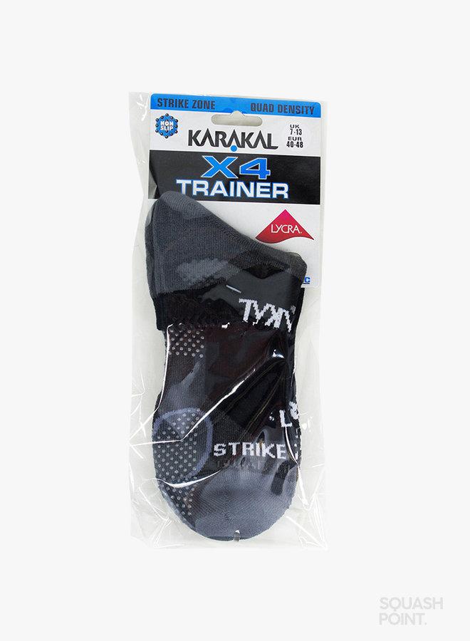 Karakal Mens X4-Technical Trainer Socks - Black / Grey