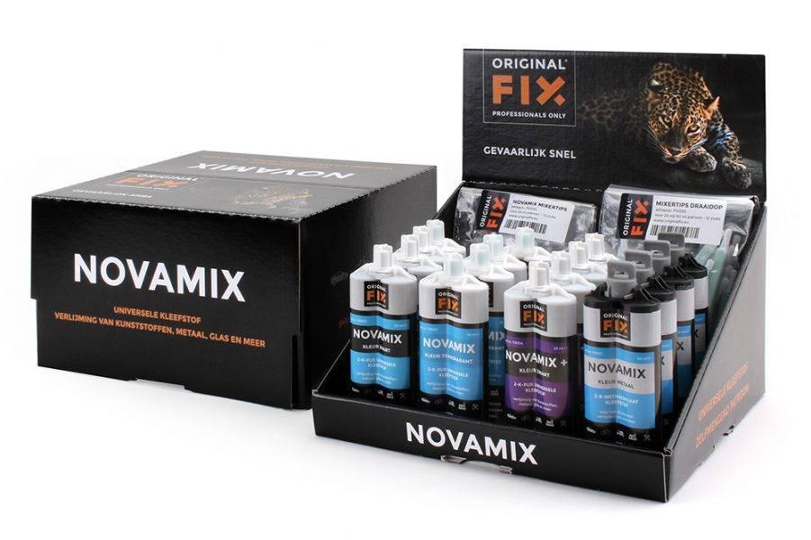 Zeer sterke en supersnel drogend 2 componenten lijm van Novamix