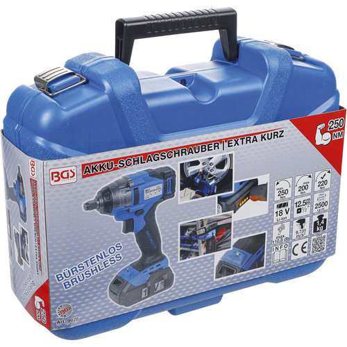 BGS Accu Slagmoersleutel-Extra Kort- 250 Nm-max. 2.500 omw/min-18V