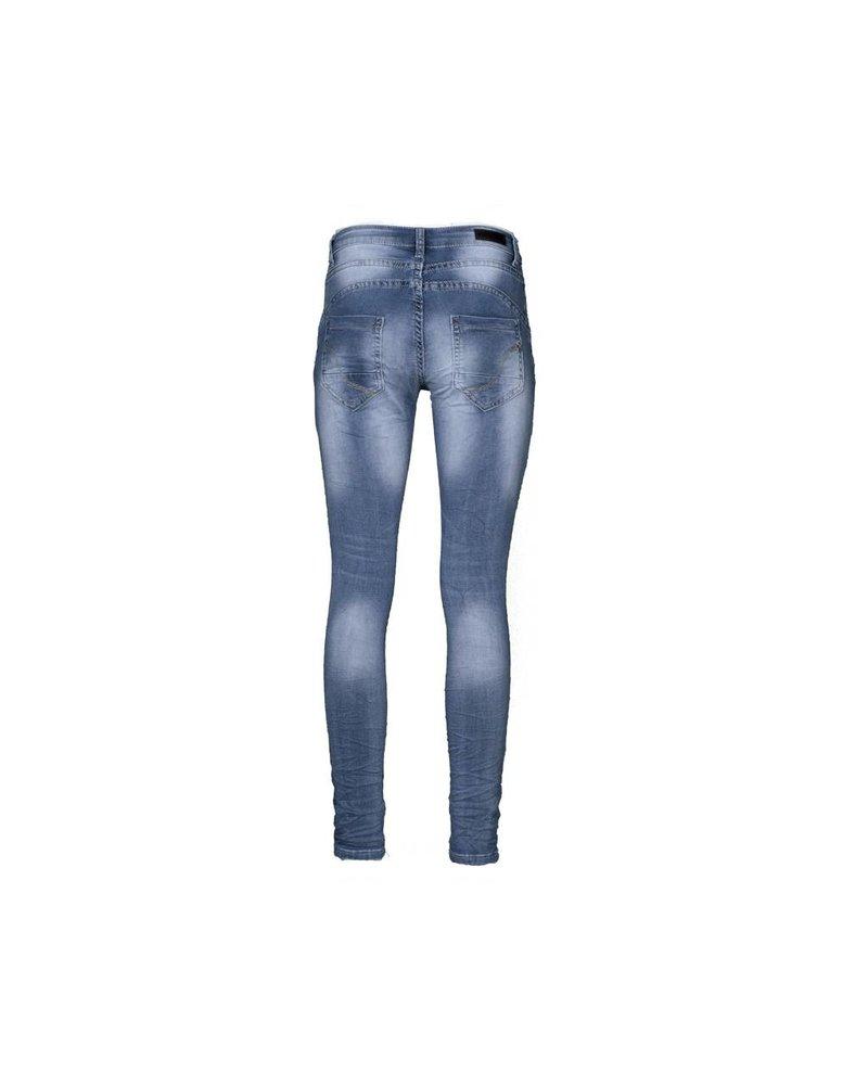 Jog jeans blue met lichte wassing van Place du Jour