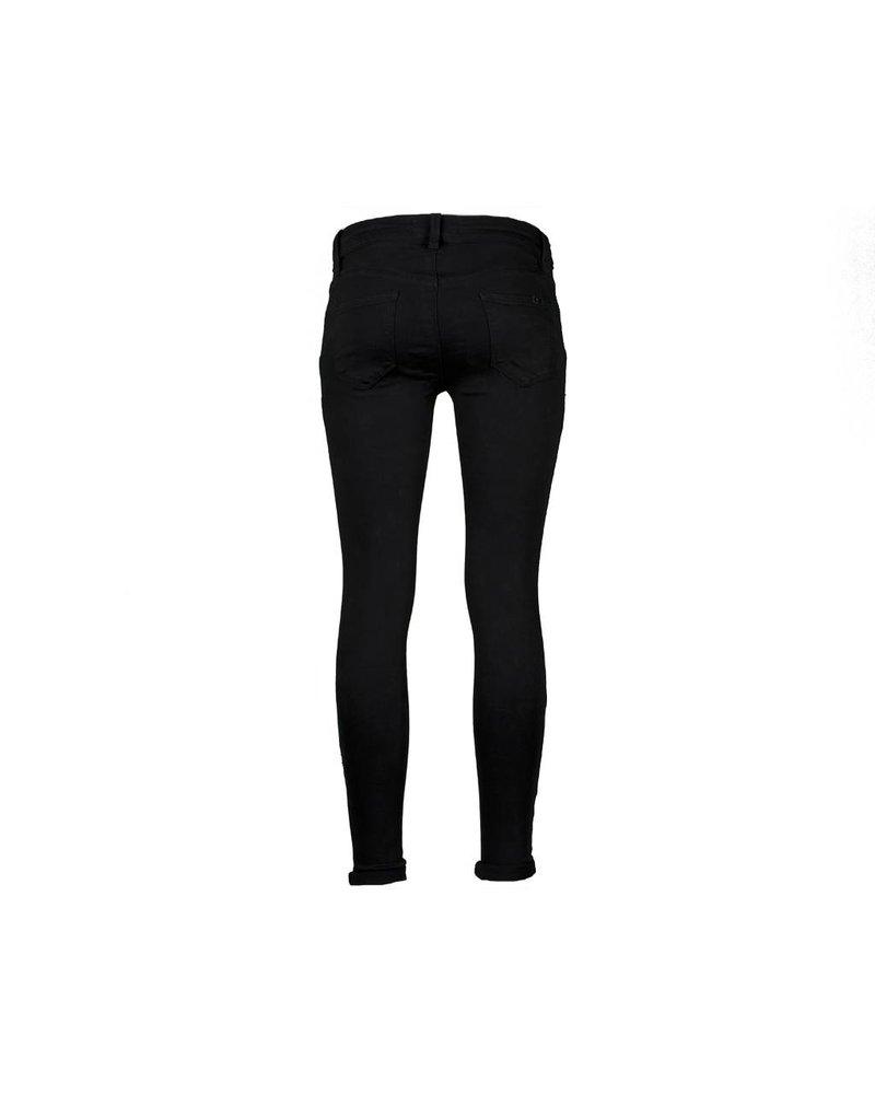 Black skinny jeans crop push up van Queen Hearts