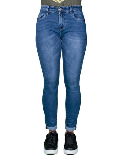 Queen Hearts Dark blue skinny  jeans crop push up van Queen Hearts