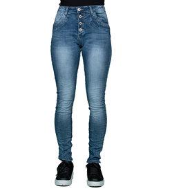 Place du Jour Medium blue baggy jeans van Place du Jour