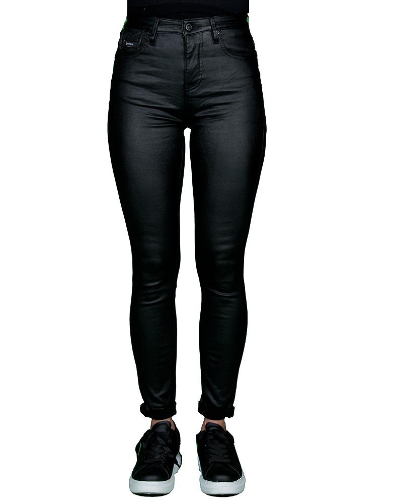 Queen Hearts Zwarte skinny wax roll up jeans van Queen Hearts