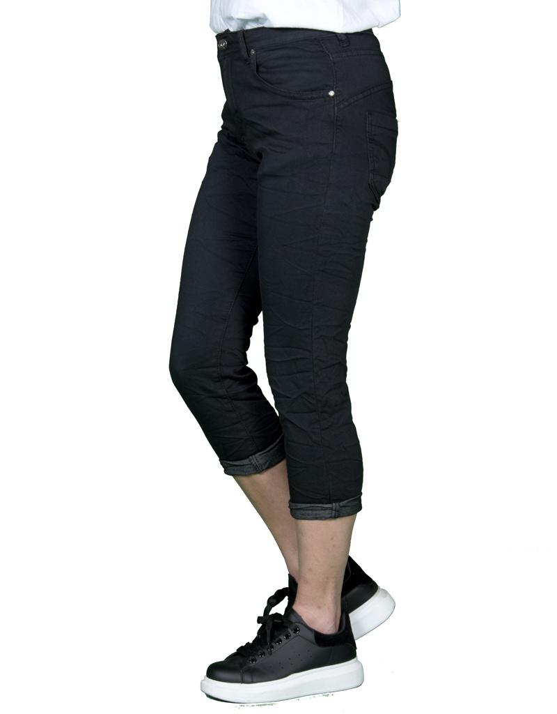 Place du Jour Zwarte capri jog jeans van Place du Jour