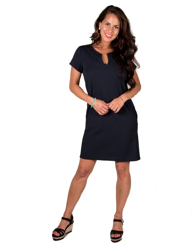 Gemma Ricceri Donkerblauwe basic jurk van Gemma Ricceri