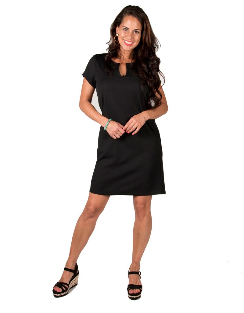 Gemma Ricceri Zwarte basic jurk van Gemma Ricceri