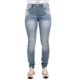 Place du Jour Light blue baggy jeans van Place du Jour