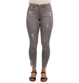 Queen Hearts Grijze skinny  crop jeans van Queen Hearts