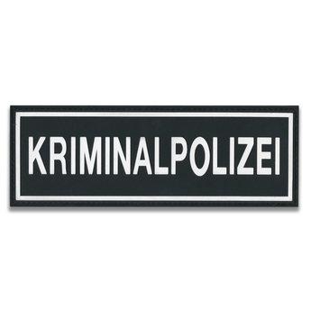 Rubberpatch Kriminalpolizei (Größe S  12 x 3,8 cm)