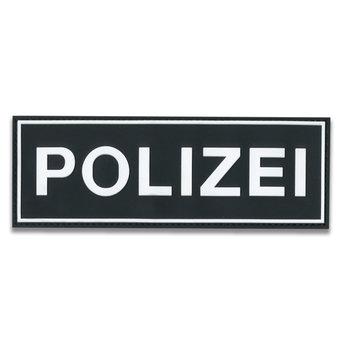 Rubberpatch Polizei (Größe S  12 x 3,8 cm)
