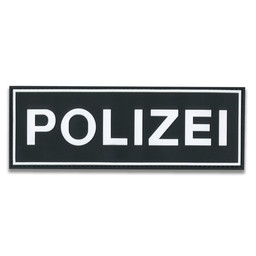 Rubberpatch Polizei  (Größe M  20 x7 cm)